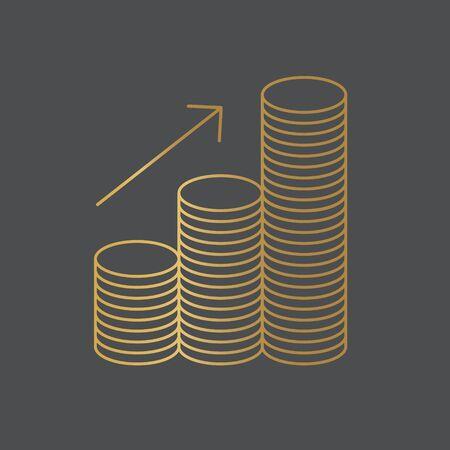 stack of golden coins- vector illustration Ilustracja
