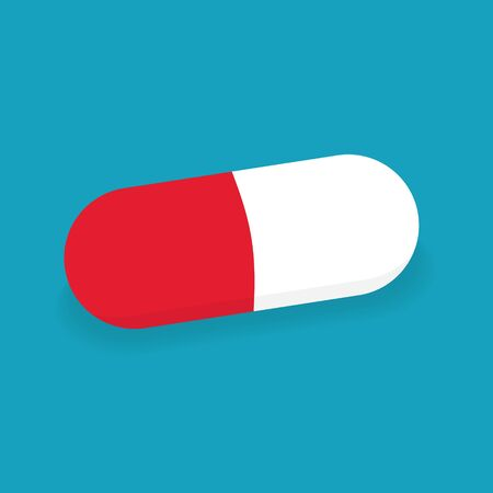 capsule medical pill icon- vector illustration
