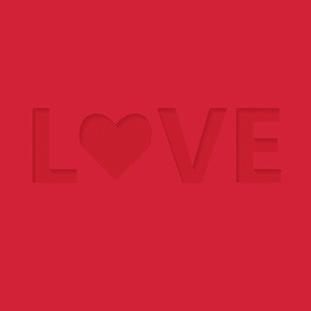word love, Valentines Day card- vector illustration Illustration
