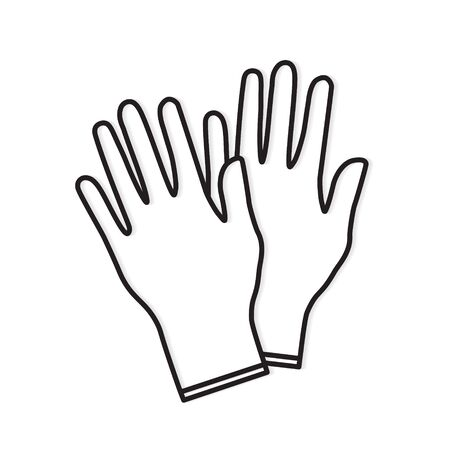 medical gloves icon- vector illustration