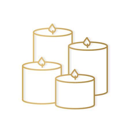 golden scented candle icon- vector illustration Vektorové ilustrace