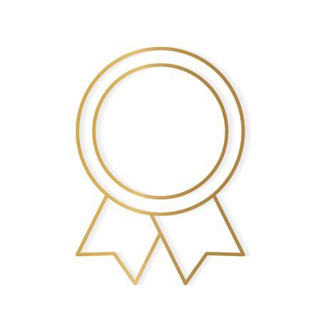 golden medal icon- vector illustration Vettoriali