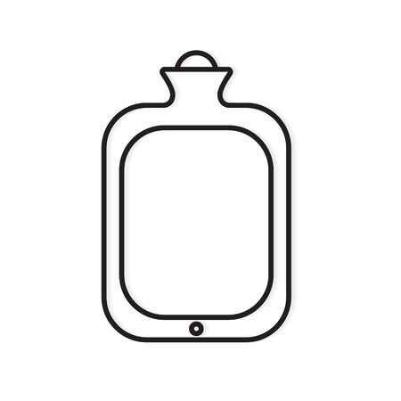 rubber hot water bag icon- vector illustration Ilustrace