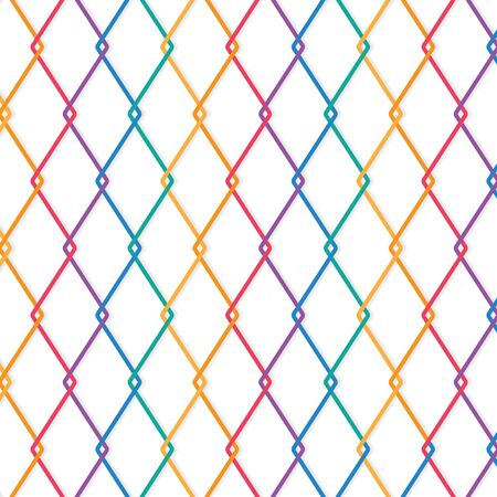 colorful wire fence background- vector illustration