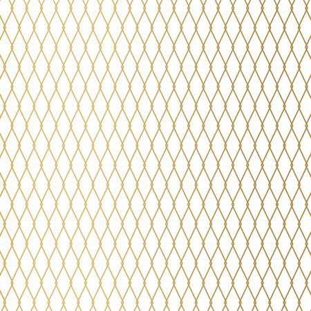 golden metal wire fence background- vector illustration