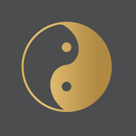yin yang taoism symbol- vector illustration