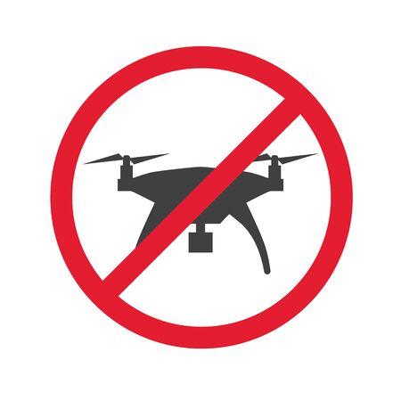 no drone allowed icon- vector illustration