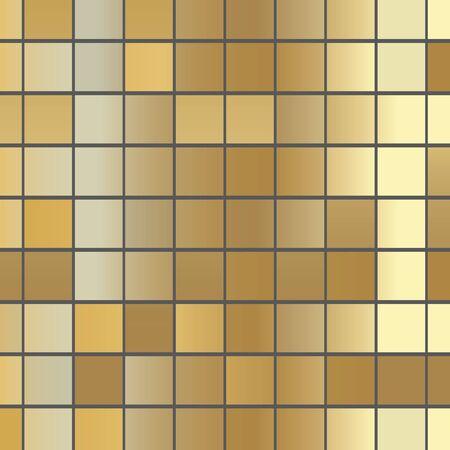 golden square texture -vector illustration  イラスト・ベクター素材