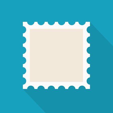empty postage stamp icon- vector illustration