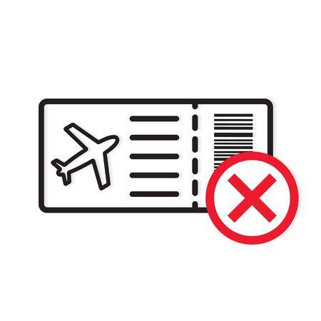 flight cancelled, suspend fliights due to coronavirus concept- vector illustration
