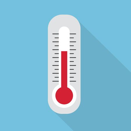 white thermometer icon- vector illustration Ilustração Vetorial
