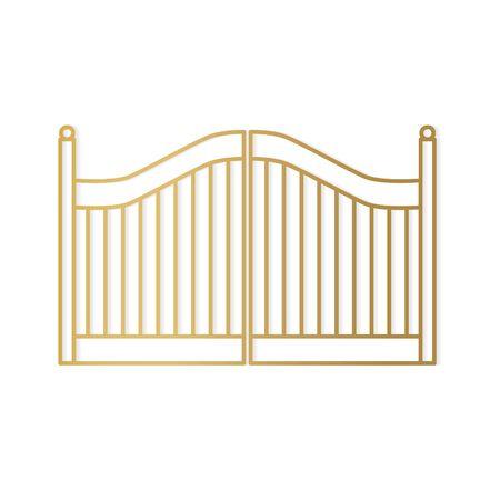 golden modern gate- vector illustration