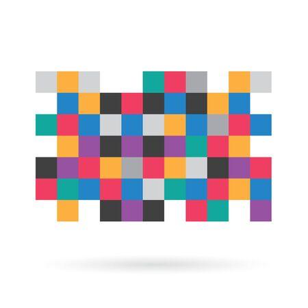 colorful pixel censorship pattern - vector illustration