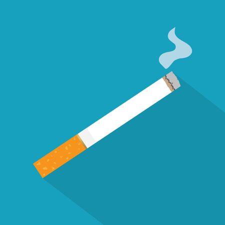 lighted cigarette icon- vector illustration
