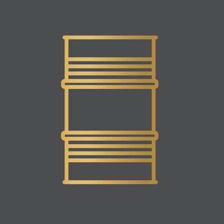 golden metal barrel icon- vector illustration Stockfoto - 144877003