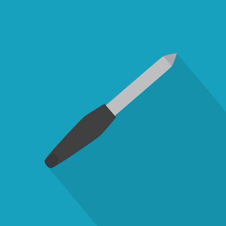metal nail file icon- vector illustration