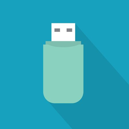 USB flash pen drive icon- vector illustration Ilustração