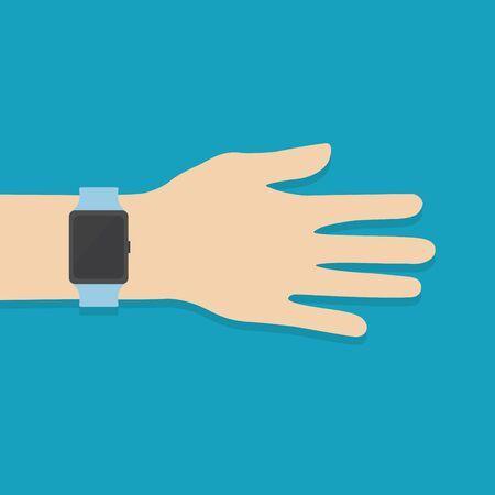 smart watch on the wrist -vector illustration  イラスト・ベクター素材