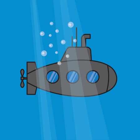 submarine icon - vector illustration 版權商用圖片 - 147742276