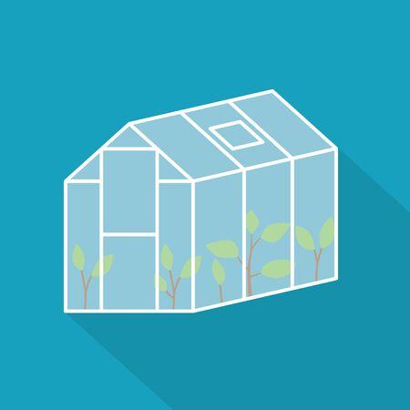 garden greenhouse icon- vector illustration Stock Illustratie