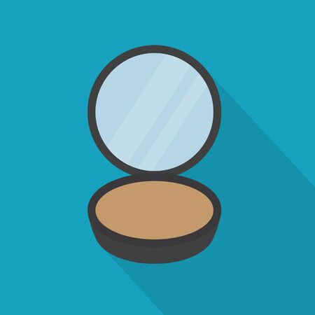 compact makeup powder icon- vector illustration Vektorgrafik