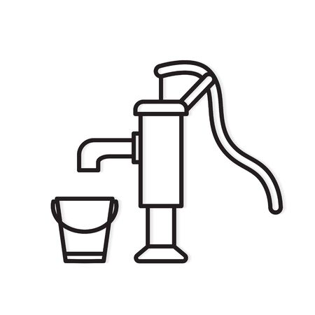 pump water well icon- vector illustration