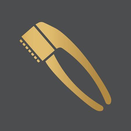 golden hand garlic press squeezer icon