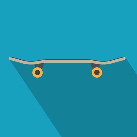 black skateboard icon- vector illustration