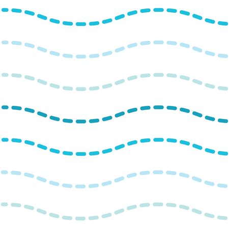 sea wavy dashed pattern- vector illustration Illustration