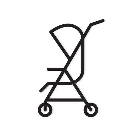 black baby stroller icon- vector illustration Illusztráció