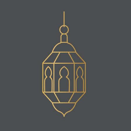 golden arabic, Ramadan lantern icon- vector illustration Ilustração