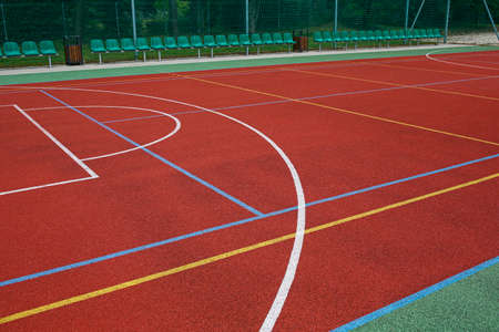 multifunctional school volleyball and basketball court field surfacesv