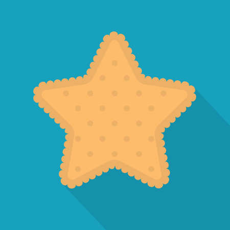 star shape biscuit icon- vector illustration