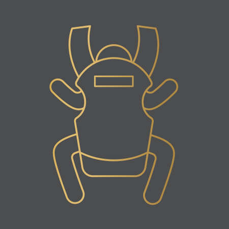 golden baby carrier icon- vector illustration Vectores