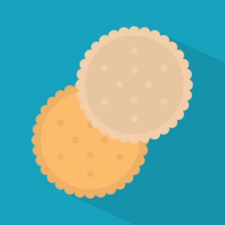 round biscuit icon- vector illustration Ilustracja