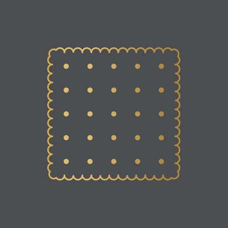 golden square biscuit icon- vector illustration Ilustracja
