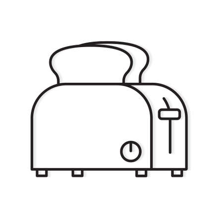 black toaster icon- vector illustration