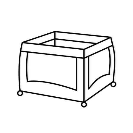 baby cot, playpen, travel bed icon- vector illustration Vektoros illusztráció