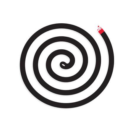 mosquito repellent coil icon- vector illustration Vektoros illusztráció