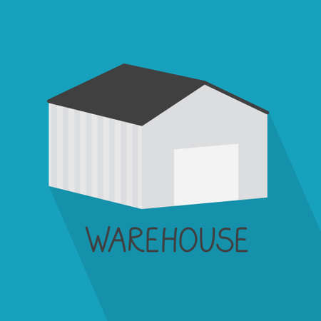 warehouse building concept - vector illustration