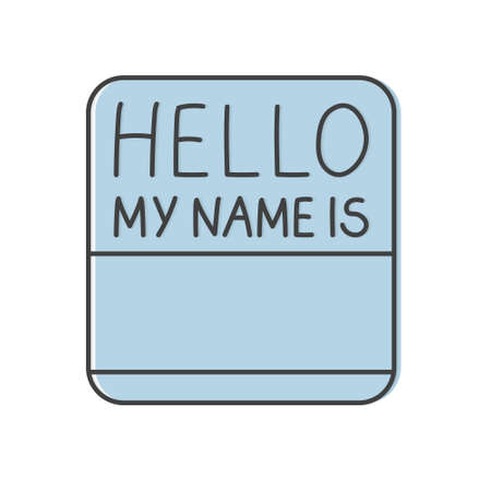 hello my name is card- vector illustration Illustration