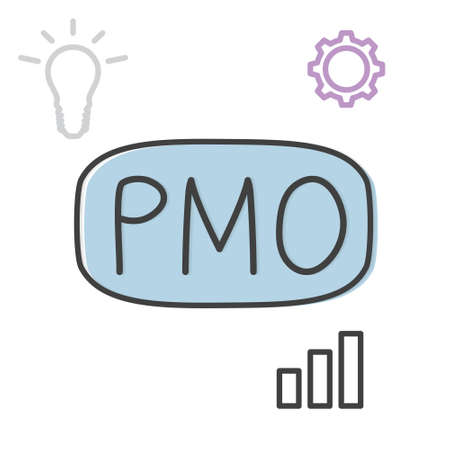 PMO (Project Management Office) acronym concept - vector illustration
