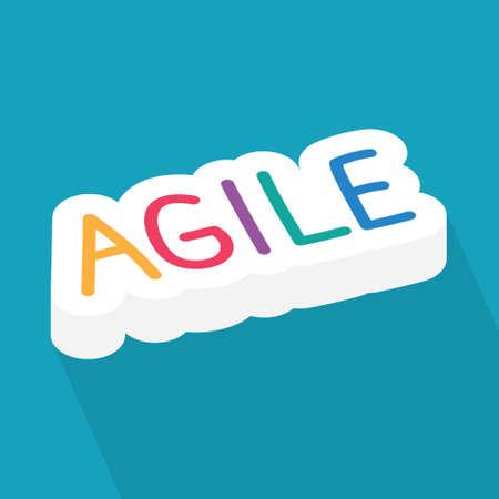 agile methodology word concept- vector illustration 向量圖像