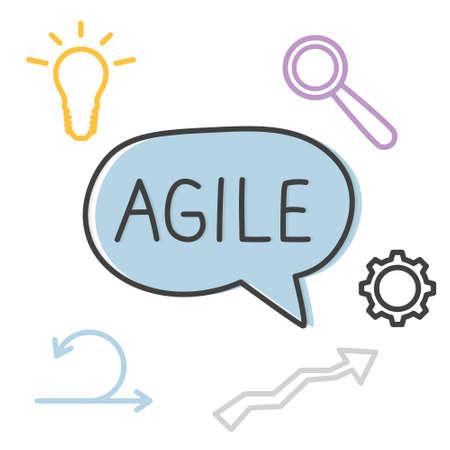 agile methodology word concept- vector illustration