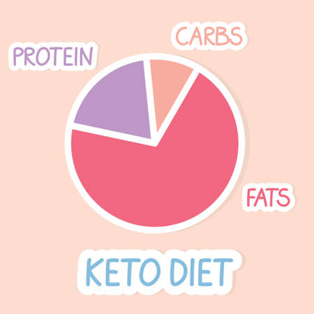 proportions of ketogenic diet - vector illustration
