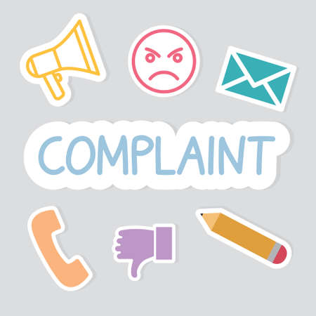 complaint word concept- vector illustration