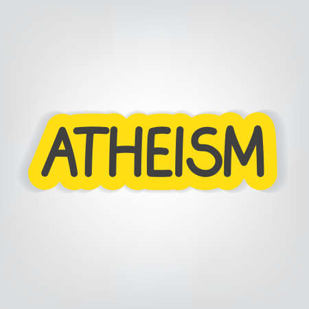 atheism word concept- vector illustration