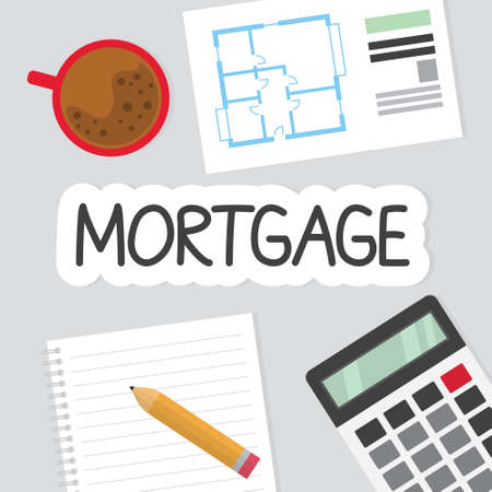 mortgage concept, home purchase planning- vector illustration Illusztráció