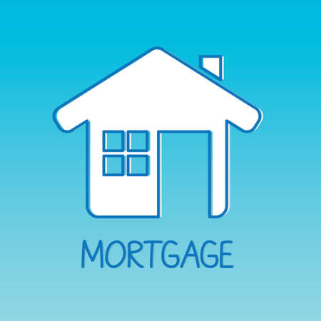 mortgage word and home icon- vector illustration Illusztráció