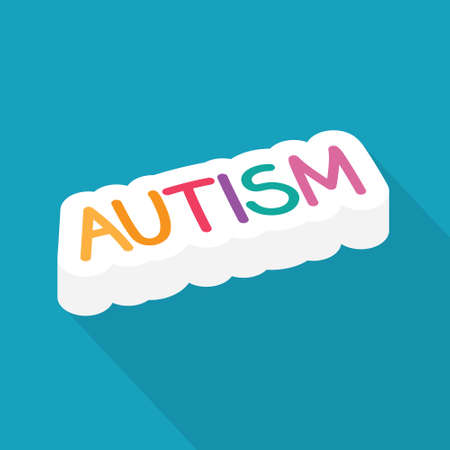 autism word concept - vector illustration